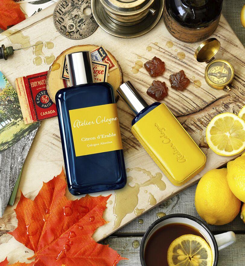 Fresh lemon perfume Citron d'Erable created by Atelier Cologne