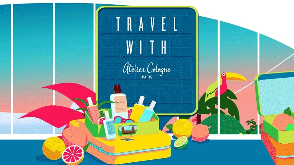 Travel with Atelier Cologne, gift, travel tag, passport